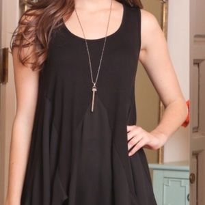 Infinity Raine Tops - 3 for $30 • Sleeveless Black Tunic